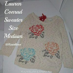 Lauren Conrad Floral Sweater Size Medium EUC